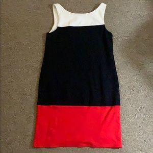 Bailey 44 White Red Black Sheath Mini Dress XS